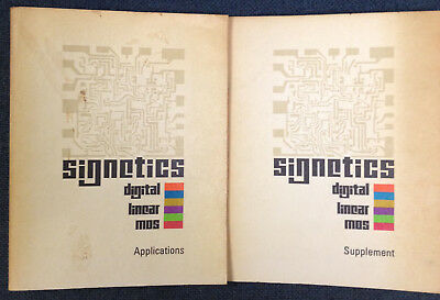 SIGNETICS - Applications manual & Supplement manual - 1970's - paperback
