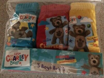 Boys NEW Blue LITTLE CHARLEY BEAR Briefs PANTS Cotton  18 - 24 months 1 pack