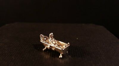 Opening Sterling Nude Woman Charm In Portable Bathing Hut Dressing Room Sterling Silver Charm for Bracelet from Charmhuntress 06129