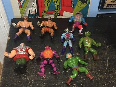 LOT OF 8 MISC VINTAGE MASTERS OF THE UNIVERSE MOTU MATTEL FIGURES ONLY!! 1980's
