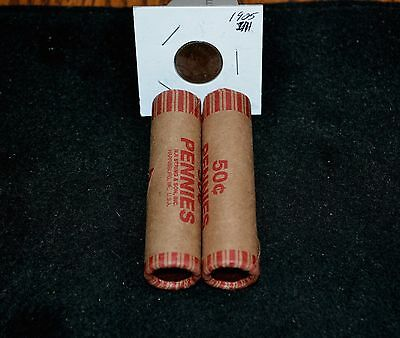 Two-Pack**Bankers Estate*Lincoln Wheat Cent Premium Rolls+Indian Head Bonus coin
