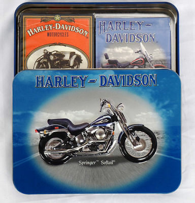 NEW 2001 HARLEY DAVIDSON Set of 2 Playing Cards '88 SPRINGER SOFTAIL Sealed Pkgc