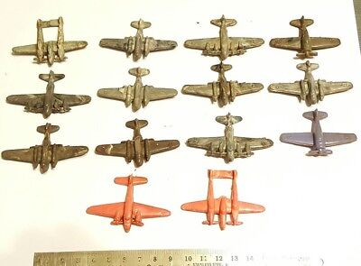 Lot of 14 IRWIN 1940's WW2 Army Airplanes Cracker Jack Prize Lido Cereal Premium