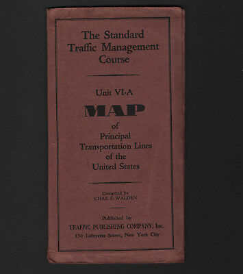 OPC Vintage The Standard Management Course Map Transportation Lines of the US