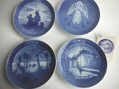 4 ROYAL COPENHAGEN Christmas Plates 1958 '59 '72 '75