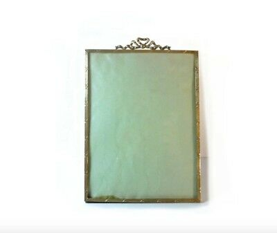 Antique / Vintage French Gilded Brass Photo/Picture Frame 26.5 x 18cm
