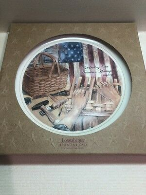 Longaberger Baskets Homestead Plate Celebrating Our American Heritage