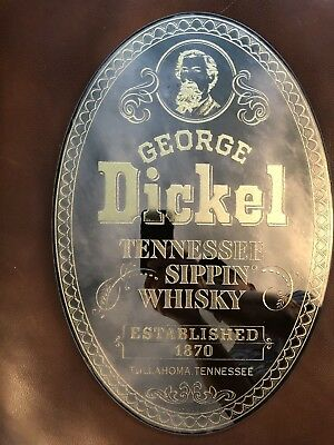 "George Dickel Tennessee Sippin Whisky Glass Mirror 18""x12"""