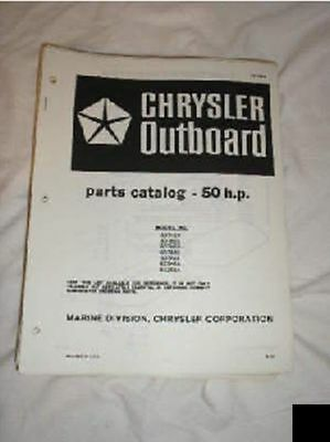 Chrysler Outboard Parts Catalog 50 HP