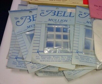 6 Bell Dollhouse Miniature Window Mullion 1/12th Scale, pick 9 panel or 12 panel