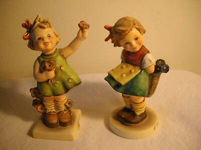 VINTAGE Set of 2 Hummel FIGURINES TMK 5 Spring Cheer 72 & BASHFUL 377 EXCELLENT