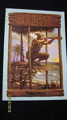 """Rare 1984 Vintage """"Robinson Crusoe"""" Marvel Comic Book by Fischer Price"""