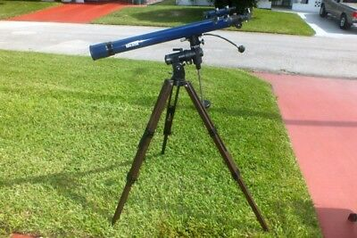 Meade model 295 telescope with heavy duty mount, eyepieces and legs.
