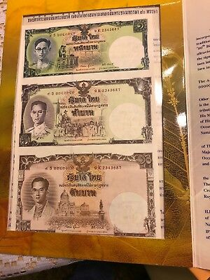 Commemorative Banknote on the 80th birthday of the King of Thailand...uncut baht