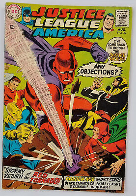 Justice League Of America #64 - 1st Silver Age Red Tornado - DC 1968 VF-