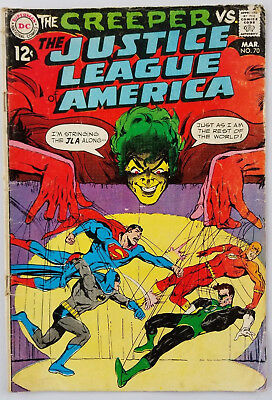 JUSTICE LEAGUE OF AMERICA #70 VG THE CREEPER 1969 DC COMICS Neal Adams cover