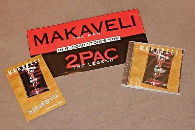 2PAC MAKAVELI SEALED OG Press CD - Promo Sticker & Postcard AUTHENTIC TUPAC  RARE