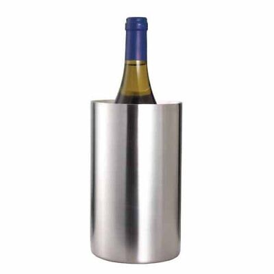 Barcraft Stainless Steel Double Walled Wine Cooler- gift boxed