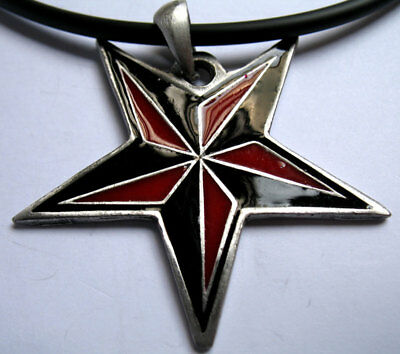 Nautical Star Symbolic Star The US Armed Forces Pewter Pendant Choker Necklace