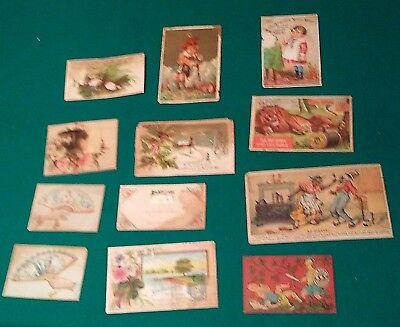 lot of Victorian Trade Cards- Mince meat, wares w/ Black Americana Cotton Polish