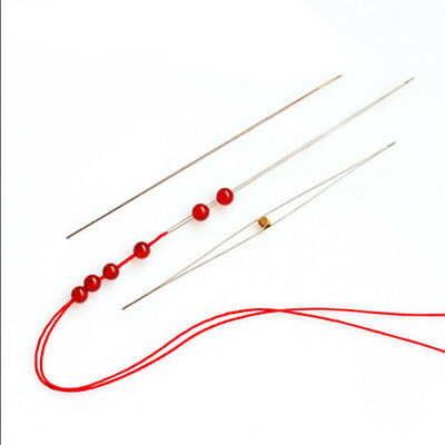 Wholesale 2/5Pcs Big Eye Curved Easy Beading Needles Jewellery Thread DIY Craft