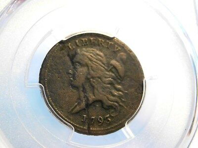 RARE 1793 Half Cent 1/2c PCGS VF w/ planchet flaw minting error - Beautiful Coin