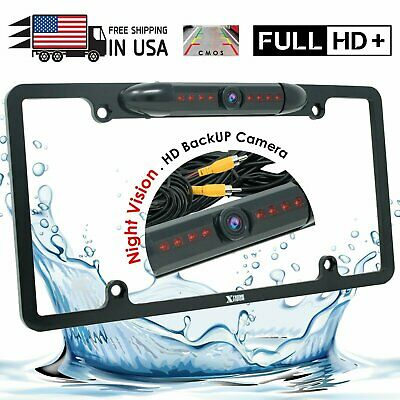 Waterproof Night Vision HD Wide Angle License Plate Car Rear View Backup Camera