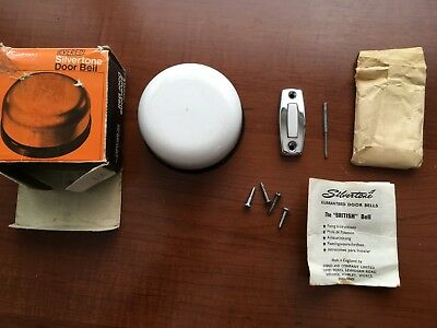 Vintage Evered Silvertone Clockwork Mechanical Door Bell with Box and Fittings
