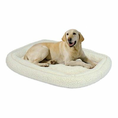 MidWest Quiet Time Deluxe Fleece Double Bolster Pet Bed