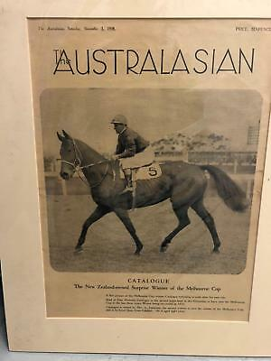 Catalogue - Mounted supplement from 1938 Melbourne Cup - Original