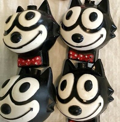 Vintage Felix the Cat party lights covers only xmas light COVERS 4 Pcs