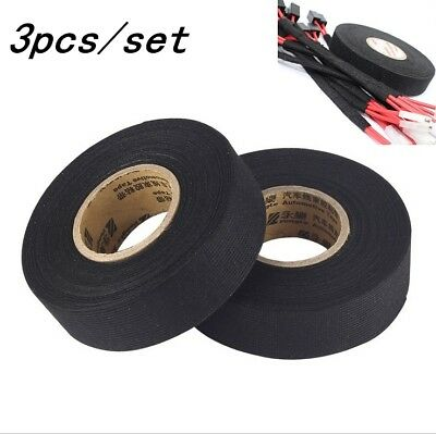 3 Automotive Car Truck Wire Harness Adhesive Electrical High Temp Weft Tape Roll