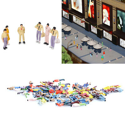 100Pc 1:100 Building Layout Model People Figure Miniature Scene Decor Hot Ornate
