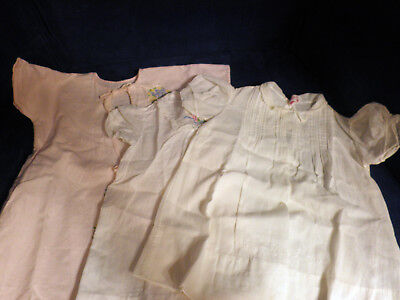3 vintage baby clothes 2 dresses 1 night gown
