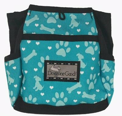 Doggone Jade Hearts and Paws Rapid Rewards Bait Bag with Belt