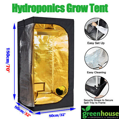 80x80x180cm Growbox Growschrank Grow box Zelt Tent für Home Anzucht Growset