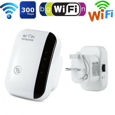 300Mbps Wireless Wifi UK Repeater Home Signal Extender Router Booster Antennas