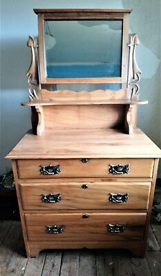 Antique Art Nouveau Satinwood Dressing Table