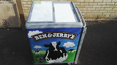 Ice cream freezer/chiller for retail with trolley