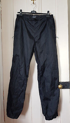 Kathmandu Black Pack & Go Pocket-it Travelling Hiking Unisex Rain Pants Size L