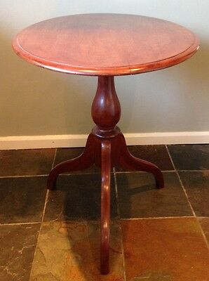 ~Antique Oval Mahogany Victorian Tilt Top Side / Occasional Table~   112