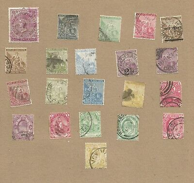 Cape of Good Hope. Stamp Act and Postage. 21 old diff used. High Res. (Ref 140)