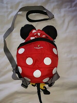 LittleLife Disney Minnie Mouse toddler backpack with reins