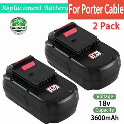 FOR PORTER-CABLE 18Volt 3.6Ah BATTERY PC18B-2 PCC489N PCMVC PCXMVC 2 PACK US
