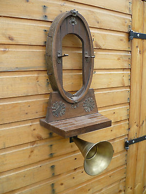 Unusual, Large, Vintage French, Dinner Gong?/ Brass Car Horn? Home Intercom????