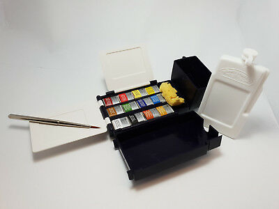 Winsor & Newton Professional Field Pocket Box 12 Half Pans Watercolour Paint Set