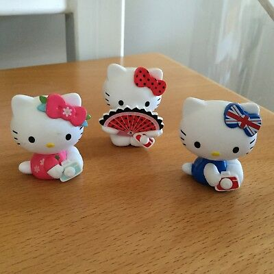 3x HELLO KITTY Figuren - Sammelfiguren - Sanrio - von 2013