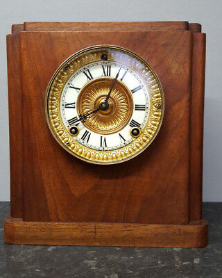 Vintage Wooden Bracket Clock with Strike