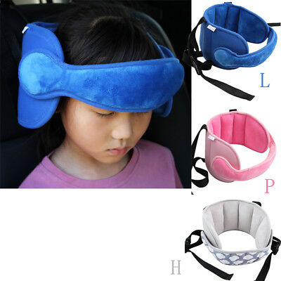 Kids Head Neck Support Car Seat Belt Safety Headrest Pillow Pad Travel Protector