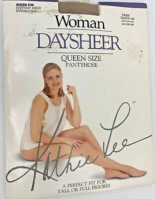 3 pair Kathie Lee Regular Queen Pantyhose w/Sheer Nylon Leg And Invisible Toe